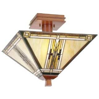 Mount Light, Antique Bronze and Art Glass Shade
