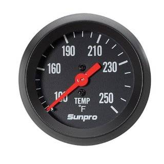 CP8217 StyleLine Mechanical Water/Oil Temperature Gauge   Black Dial
