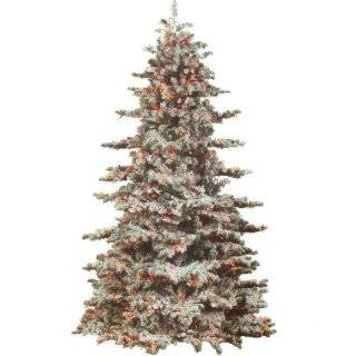 10 Flocked Alaskan Artificial Christmas Tree   Unlit