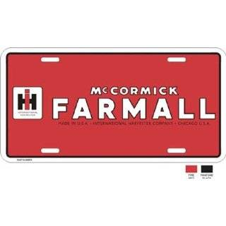 McCormick Farmall International Harvester License Plate Automotive