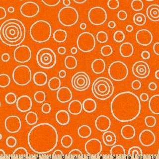 44 Wide Pimatex Basics Polka Dots Orange Fabric By The