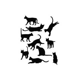 REAL MEN LOVE CATS   Cat Vinyl Car Decal Sticker #1549  Vinyl Color