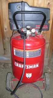 5 HP Craftsman 20 Gallon Vertical Air Compressor Works Perfect