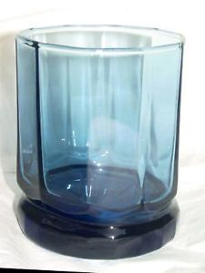 Anchor Hocking Cobalt Blue Tumbler Glass Decagon 8 Oz