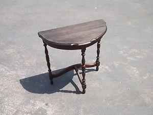 Vintage Antique Wood Half Table Couch Table End Table Victorian Display
