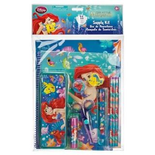New  Ariel Little Mermaid Art School Supply Kit Notebook Pencils Etc
