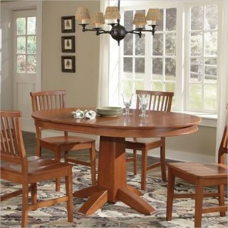 Home Styles Arts Crafts Round Oval Cottage Oak Dining Table