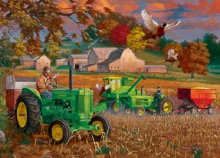 Jigsaw Puzzle Tractor John Deere Bumper Crop 1000 PC Collector's Tin