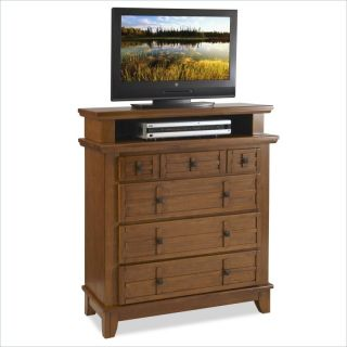 Home Styles Arts Crafts Media Chest Cottage Oak Finish TV Stand