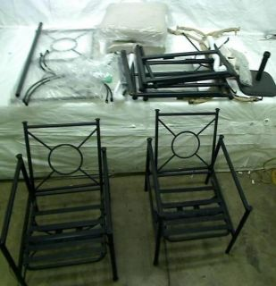 Lot of Hampton Bay Outdoor Patio Furniture Chairs Table Parts