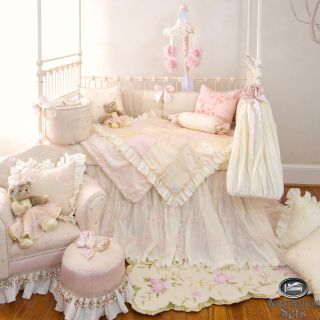 Baby Girl Pink Designer Quilt Babies Crib Newborn Nursery Best Bedding Bed Set