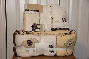 Pottery Barn Kids Baby Elephant Nursery Fitted Sheet Organic Bed RARE Sold Out