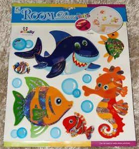 Nursery Childrens Girls Kids Boys Child Bedroom Furniture Sea Fish Wall Stickers