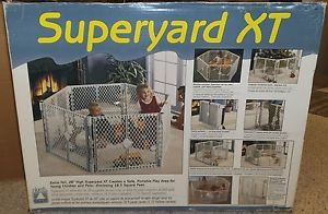 North States Superyard XT Baby Gate Play Yard 18 5 Sq ft Dog Pen