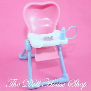 New Pink Baby Doll Highchair Feeding Chair Fisher Price Loving Family Dollhouse