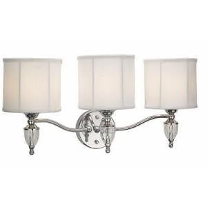 Hampton Bay 169368 Waterton Collection 3 Light Chrome Bathroom Vanity Fixture