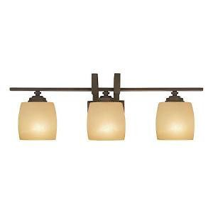 Hampton Bay Bronze 3 Light Bath Room Vanity Fixture