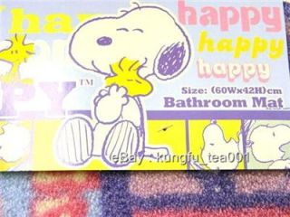 Snoopy Woodstock Bathroom Mat Bath Rug Door Carpet
