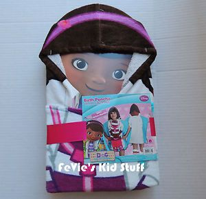 Disney Doc McStuffins Hooded Poncho Bath Towel Toddler 100 Cotton
