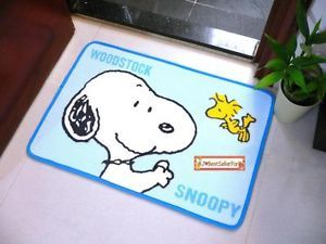 Snoopy Outdoor Home Floor Mat Kitchen Bathroom Restroom Rug Carpet Doormat♥blue