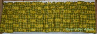 John Deere Tractor Yellow Green Curtain Valance New