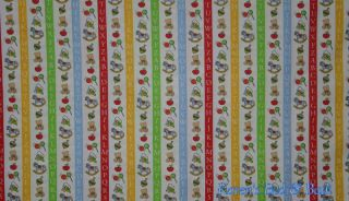 Red Yellow Green Blue White Vertical Stripe Baby Toys Nursery Curtain Valance