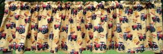 Farmall International Red Tractor Wheat Potatoes Corn Farm Curtain Valance New