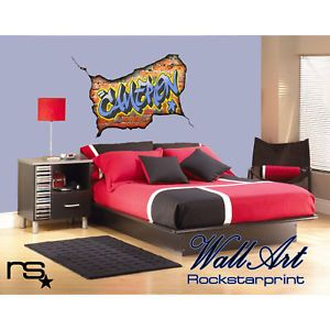 Personalised Wall Art Graffiti Bedroom Decal Sticker