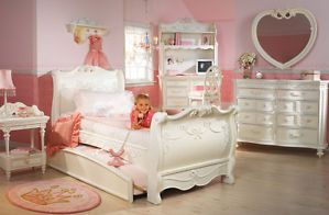 Disney Princess Girls 8 Piece Twin Sleigh Bed Bedroom Set Princess Collection