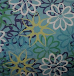 New Blue Daisy Flowers Fleece Throw Travel Blanket Girls Car Seat Blanket