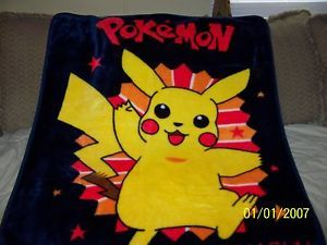 Pokemon Pikachu Soft Plush Fleece Throw Blanket Very Thick War Blanket