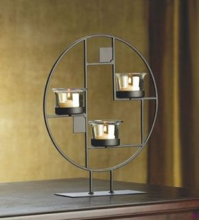 Decorative Art Candle Holder Home Accent Table Decor Display Stand Centerpiece