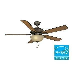 Hampton Bay Larson 52 in Oil Rubbed Bronze Ceiling Fan