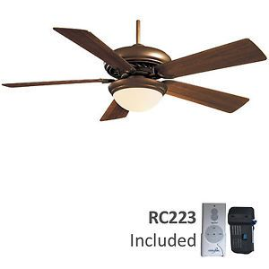 "Minka Aire Supra Oil Rubbed Bronze 52"" Ceiling Fan with Remote Control F569 ORB"