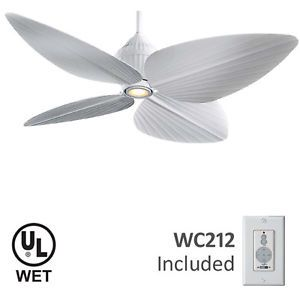 Gauguin Outdoor Tropical Ceiling Fan Minka Aire F581 WH