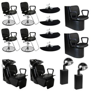New Salon Equipment Styling Chair Mat Trolley Station Shampoo Unit Bowl DP 70p