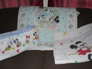 Baby Mickey Mouse Crib Set Bumber Pad Comforters