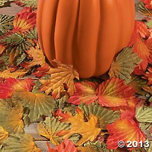250 Polyester Fall Leaves Thanksgiving Craft Supplies Autumn Decorative