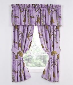 Realtree AP Lavender Camouflage Window Curtains Purple Camo Drapes