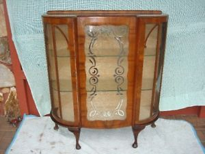 Art Deco Curio China Cabinet Vitrine
