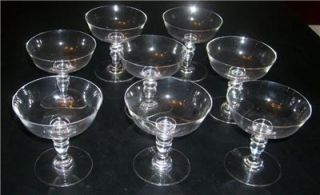 6 Antique Baccarat Crystal Champagne Stemware Glasses