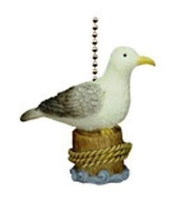 Coastal Beach Decor Sea Gull Seagull Fan Light Pull