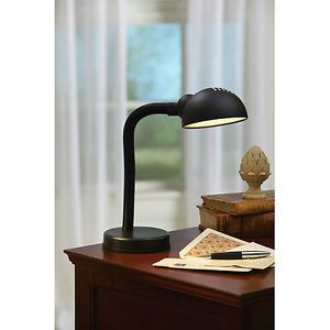 Mainstays Flexible Black Gooseneck Desk Lamp