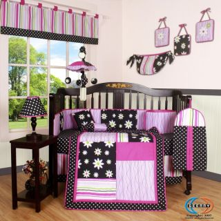 Geenny Charming Flower 13P Baby Crib Bedding Set
