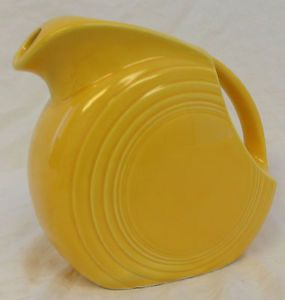 "Old Antique Vtg Genuine Pre 1969 Fiesta Ware Yellow 6"" Disc Disk Water Pitcher"