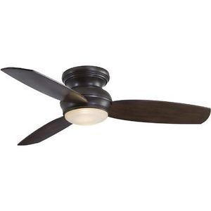"MinkaAire Oil Rubbed Bronze 3 Blade 44"" Flush Mount Indoor Outdoor Ceiling Fan W"