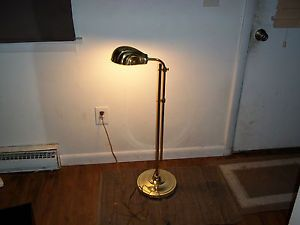 Alsy Art Deco Brass Floor Lamp Adjustable