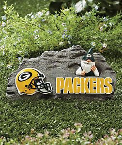 Green Bay Packers NFL Gnome Garden Stone Football Fans Sports Yard Decor