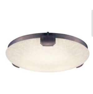 Hampton Bay Somerton 2 Light Flush Mount Fluorescent Ceiling Light Bulbs Inc