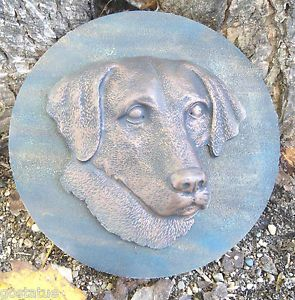 Plastic Plaque Mold Dog Lab Labrador Decorative Stepping Stone Garden Mold